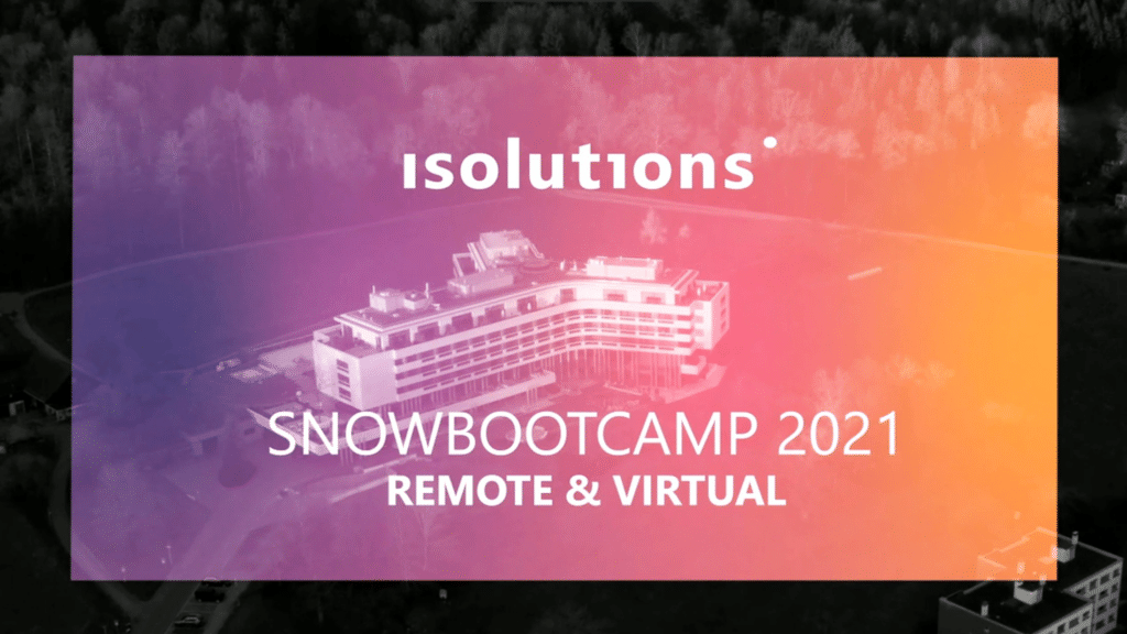 isolutions Barcelona SnowbootCamp 2021 Technology Jobs
